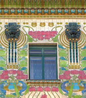 The gorgeous Majolica House is a wonderful example of Art Nouveau architecture in Vienna.
