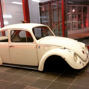 very sad bug with a tortoise on its back #21erhaus #peterweibel #media #bugs #vw #beetle #bug #vienna