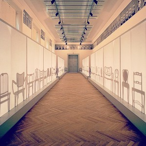 The evolution of chair design in silhouettes. #artnouveau #barbarabloom MAK - Austrian Museum of Applied Arts /...
