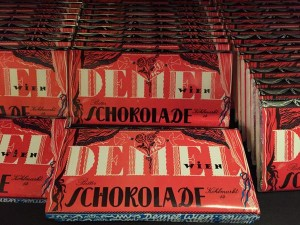 The 1950s folklore-noir choc bar wrapper designed for Demel in Vienna by Federico von Berzeviczy-Pallavicini. #design
