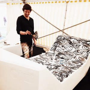 Sneek peek into EUROART IM MQ: Literally all eyes on artist Stylianos Schicho who is creating the...
