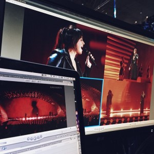 The Eurovision.tv is working hard to show you everything of all the rehearsals! #eurovision #trijntjeoosterhuis #netherlands #nederland...