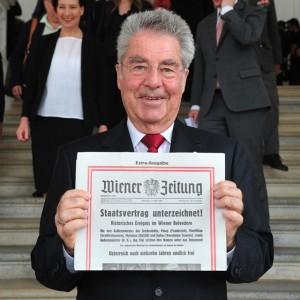 #wien #staatsvertrag #60 #anniversary #president #wienerzeitung Belvedere - Vienna