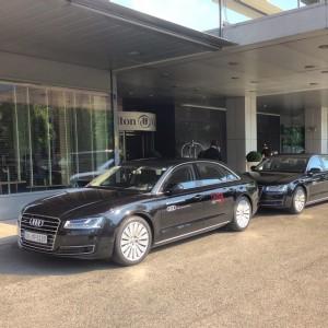 Wieder arbeiten 😁👍 #Chauffeur #Vienna #lifeball #2015 #audi #A8L Hilton Vienna