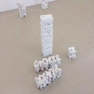 Stacked letters. (Christian Eisenberger) #ViennaGalleryWeekend #art #Wien #Vienna Krinzinger Projekte, Wien•
