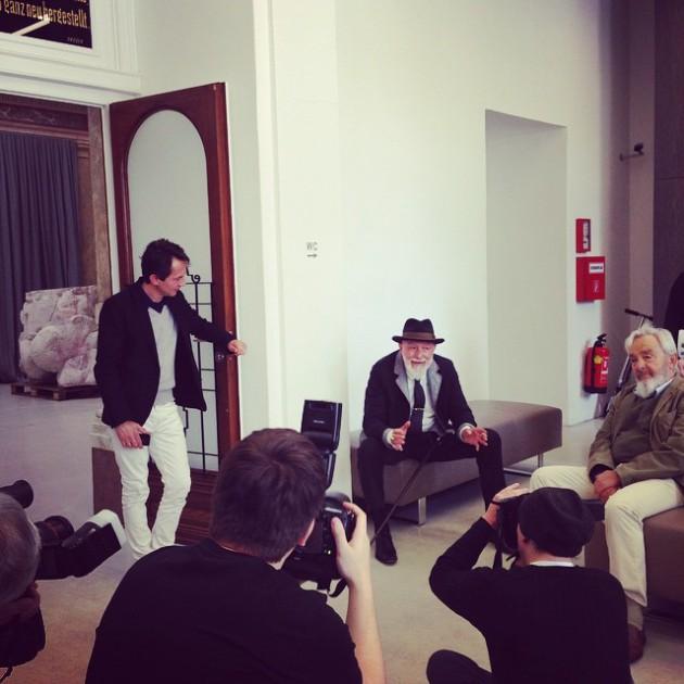 #ArnulfRainer #Übermaler #MarkusLüpertz #ArnulfRainerMuseum #OpeningTonite #Baden #excited #congrats