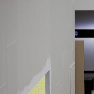 Rigipsplatten, Dispersionsfarbe, Baumwollgarn, Druck auf Metallplatte, Holz #MityaChurikov #DavidJourdan #SoniaLeimer #RaloMayer #JohannesPorsch #JenniTischer #Destination Kunsthalle Wien