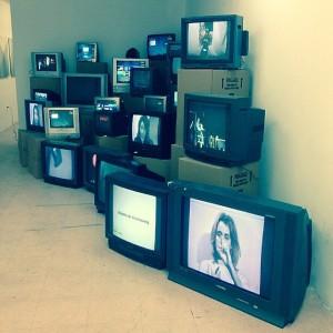Great solo show of Valie Export at Tanya Grunert Gallery #valieexport #video #tv #70s #tanyagrunertgallery #orchardstreet #les...