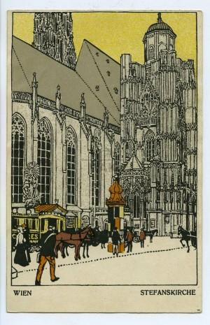 Karl aus #Wien hofiert Laura aus Mailand! Postkarte aus den Wiener Werkstätten, 1910 | @MAKWien #Museum