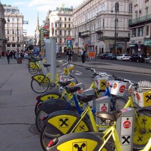 rental #bicycle at #vienna #austria #europe #travel #instatravel #city #citylife #street #streetphotography