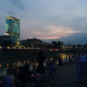 #vienna #sungoesdown #sunset #summervibes #telavivbeach #lifeisgood #friends #gooddays #goodnights