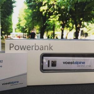 #Power to go! Diese #Powerbank gibt's bei der #voestalpine am #CampusFestival in #Wien! #uniwienfeiert Campus der Universität...