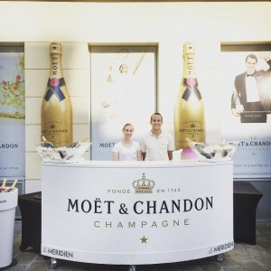Hello Roger - we are prepared to serve a chilled cup of #champagne #lemeridienvienna #MoetMoment #rogerfederer Le...