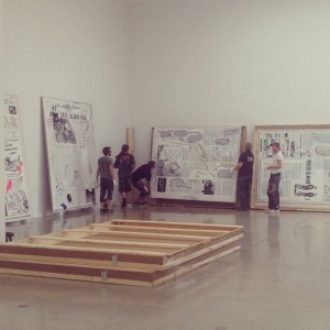 Vorbereitungen für die #LauraOwens #Ausstellung in der #Secession - #Eröffnung ist am Mittwoch mit anschließendem #Sommerfest! Wiener...
