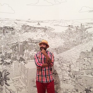 #artist@carlosperezart in#riodejaneiro at the Opening of #viennabiennale#unevengrowth