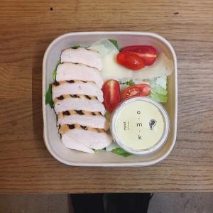 Yummyyy!!!! Wasabi Caesar salad!!!!! #mochi_vienna #takeout #lovefood #omk #lovefood #salads