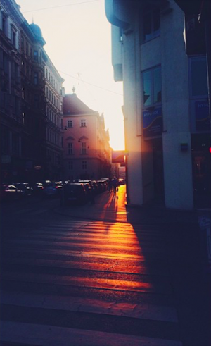 I'd say that's the closest we will ever get to a Manhattanhenge in this miserable city. #sunset...