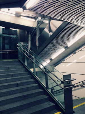 As inevitable as the Donaukanal sunset: Schottenring staircase pic. #architecture #Wien #Vienna Schottenring U-Bahn