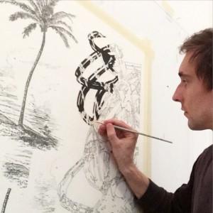 last month #process #datadrawing @mak_vienna #viennabiennale @viebiennale #drawing #acryl #pencil #paper studio