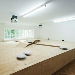Rumba (2015) installation view, secession #irobot #secession #splendidriver #caofei #vacuum #vacuumcleaner;