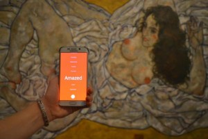 Paint your own artwork by tagging your emotions wandering through the #LeopoldMuseum #Vienna #Schiele #Samsung
