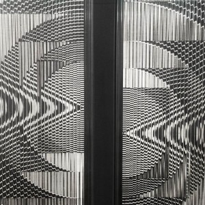 Constantin Flondor, Undulatory Mirage, 1968, Ink on paper, wood panel, grooved glass #ConstantinFlondor, like the architect Friedrich Kiesler, was born...