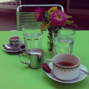 Und ich hab erst an dem Grün gezweifelt... #ritabringts #coffeepirates Vorgartenmarkt