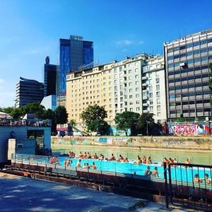 The 5th #heatwave in #Vienna will end tomorrow. Happy last day of #summer! Badeschiff Wien