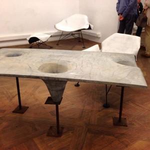 Amazing work by #graulicht #madamemore #concrete #beton #furniture Galerie Im Ersten, Sonnenfelsgasse 3