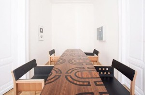 Table and chairs for Angoinvest by #eichingeroffices