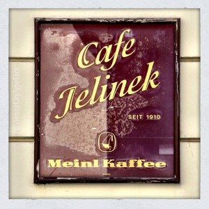 856 Cafe Jelinek As this painted glass sign says, Cafe Jelinek was opened in 1910. #vctf_jelinek Now...