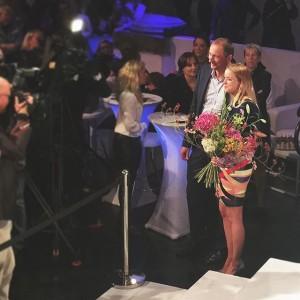 That's my girl!!!! @marinahoermanseder wins @austrian_fashion_association #austrian_fashion_awards #preisderstadtwien #prize #cityofvienna #love #fashion #youngdesigners #supporttalent #thequintessenceinvienna Semperdepot