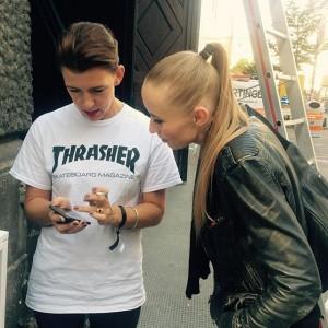 @helga_wendy & Marlene Agreiter checking it all out! #austrianfashionawards #afa2015 #austrian_fashion_association #AFAjury #semperdepot #wendyjim #semperdepot Semperdepot