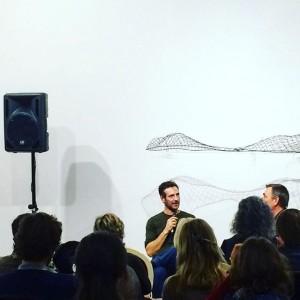 Artist Talk @hofstaetter_art last night A dialogue between #Constantinluser and #Herwigkempinger Hofstätter Projekte