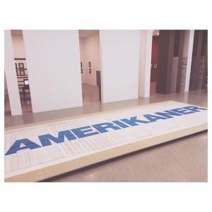 Heimo Zobernig, Amerikaner, 1992 #Wien #Vienna #art MUMOK - Museum moderner Kunst Wien
