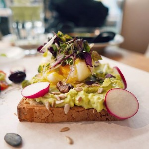 Reblog @nurielmolcho Our New NENI Breakfast Sandwich #avocadotoast #breakfast #neni #yummy NENI