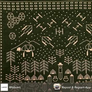 #spotted: #vdw2015 #kosmosproject #starwars #kilim #tapestry #textile #polishdesign @viennadesignweek @chmararosinke @kosmosproject #GanzNeueGallerie Ganz Neue Galerie