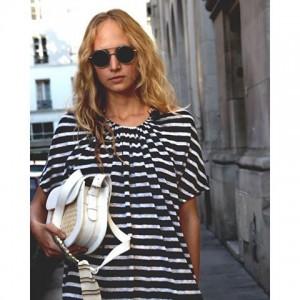 #AFA #afashowroom Ariadne Neu is wearing a dress by Femme Maison, a handbag by Bradaric Ohmae and...