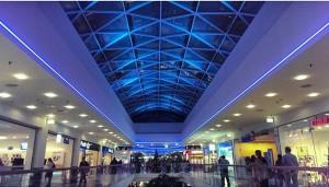 #donauzentrum #blue #lights #shopping #mall #22 #wien #vienna #people