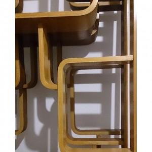 Restaurierte Trennwände aus den 1960er Jahren #design #retro #vintage #leder #altesportgeräte #alteturngeräte #originale #ledermatte #tschechischeswohndesign #wohnen #artdeco...