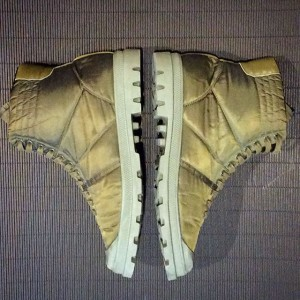 a rare and special desert boot The iconic Helmut Lang vintage nylon padded tanker boots in khaki...