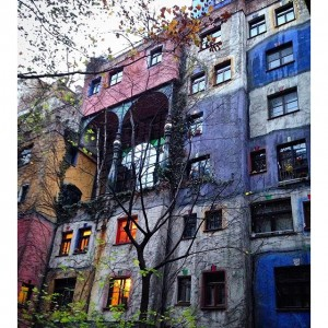 Hundertwasserhaus - another building designed by the same artist as Kunst Haus Wien, this time a residential...