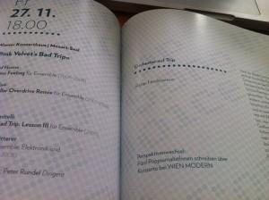 Gestern wurde Wien Modern von Electric Indigo eröffnet. Danach Boulez. Und durften was für den Katalog schreiben.