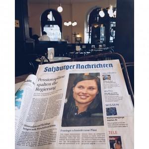 Zu Gast im Café Griensteidl, dem Treffpunkt der Wiener Literaten 📖☕️ #SNCafetour #Cafe #Kaffeepause #Zeitung #Wien #igersvienna...