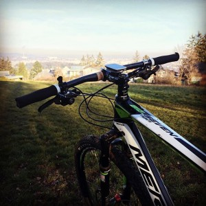 Awesome weather for a ride 😎 #winter #december #mtb #train #sun #nosnow #merida #vienna #view #bluesky #garmin...