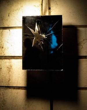#IvToshain throwing star at SAW2 Lenaugasse