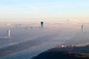 the fog and the blue danube #wien #vienna #donau #danube #fog #leopoldsberg #donaucity #donauturm