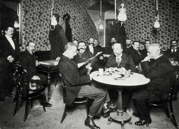 Das #Künstlerzimmer im #CaféGriensteidl in #Wien 1896 Photo by #WienMuseum #österreich #ArtistsRoom