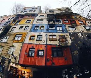 🎨 #hundertwasser #hundertwasserhaus #wien #colors #colorful #architecture #winter #gopro #hero4session Hundertwasserhaus