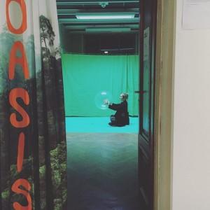 Oasis - we will treat you good, installation and performance, Eva Hettmer, 2016 Academy of Fine Arts...
